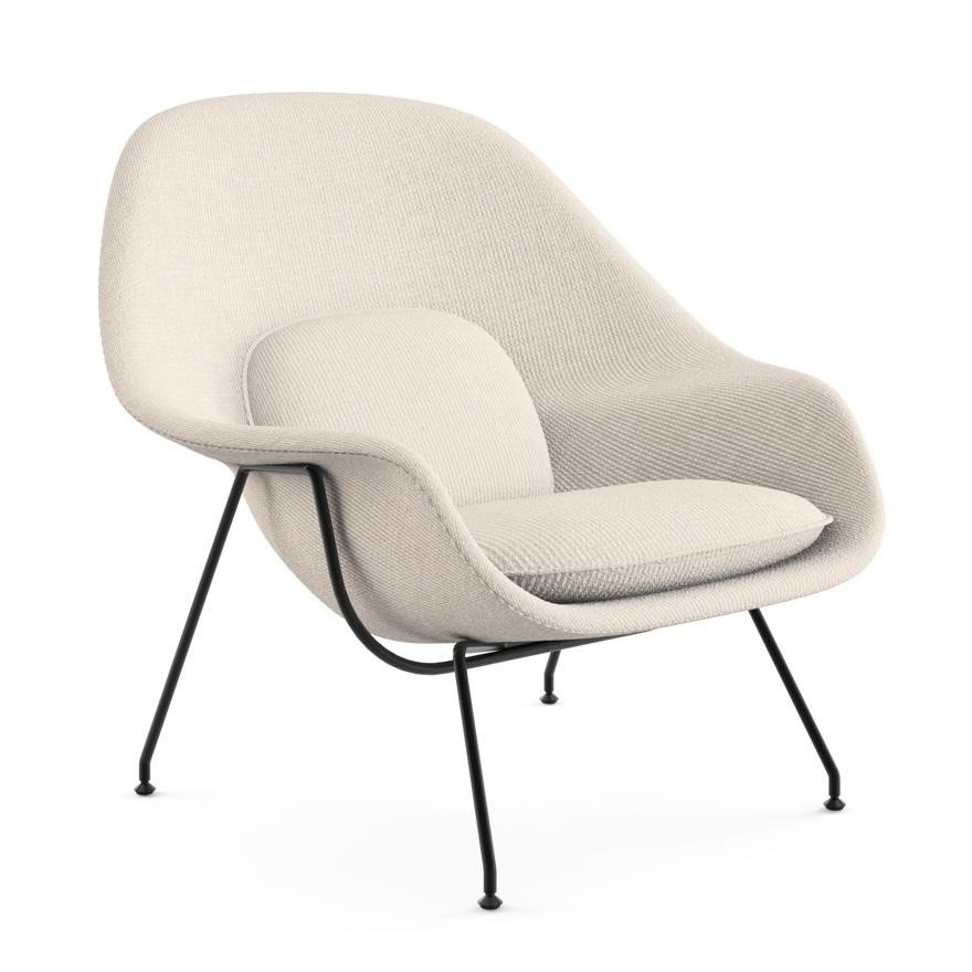 knoll international womb chair relax frame black ambientedirect