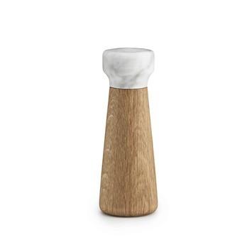Normann Copenhagen - Craft Salzmühle - marmor weiß/Fuß eiche natur/H x Ø 18 x 6.7cm