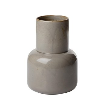 Fritz Hansen - Fritz Hansen Earthenware Vase  - moosgrau/H 17.5cm/Ø 12cm