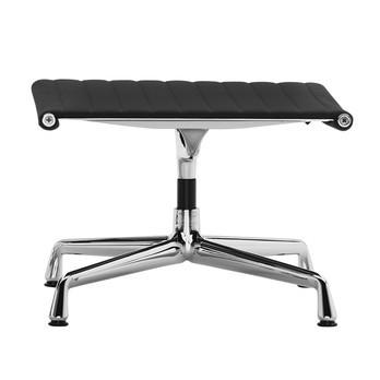 Vitra - EA 125 Aluminium Chair Ottoman - Stoff schwarz Hopsak 66/Gestell aluminium poliert