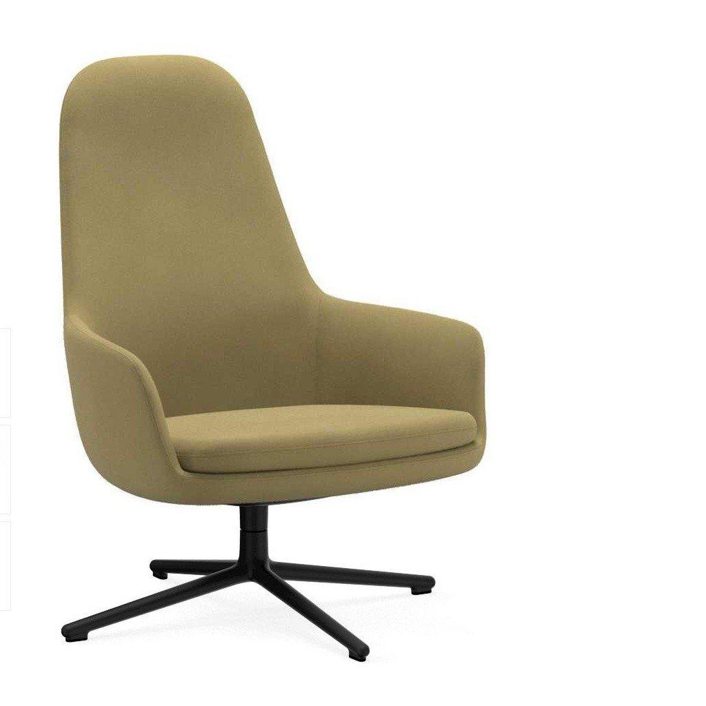 Beau ... Normann Copenhagen   Era Lounge Chair High Swivel Chair Black Alu    Beige Fabric Fame 62068 ...