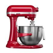 KitchenAid - Heavy Duty 1.3 5KSM7591 Food Processor - empire red/lacquered/incl. egg beater/dough hook/smooth stirrer/with 6.9 l bowl and splash guard