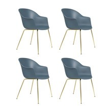 Gubi - Bat Dining Chair Gestell Messing 4er Set