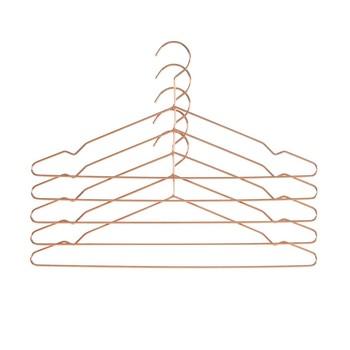 HAY - Hang Kleiderbügel 5er Set - kupfer/5 Stück