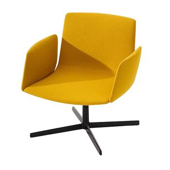 Arper - Catifa Sensit Lounge 4915 Sessel - gelb/Gestell schwarz matt/Stoff Tonus 4 440/mit gewichtsregulierter Synchronmechanik