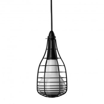 Diesel - Cage Mic Pendelleuchte - schwarz/lackierter Stahl/mundgeblasenes Glas/Ø13,3cm