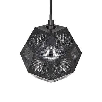 Tom Dixon - Etch Mini Pendelleuchte Ø15cm - schwarz/dimmbar/schwarzes Textilkabel