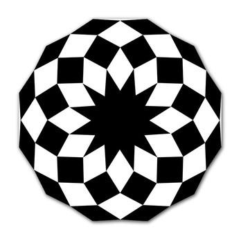 Vondom - Marquis Outdoor Teppich - schwarz/weiß/200x200cm