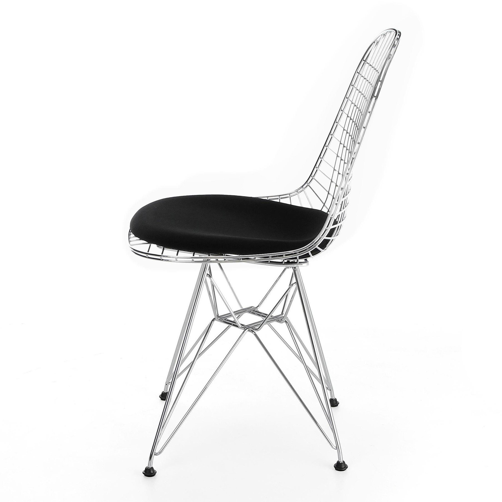 wire base black wires eiffel viesso chrome ppm chair