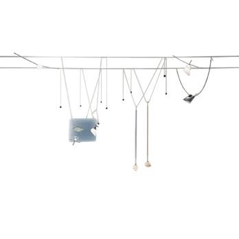 Ingo Maurer - YaYaHo Set B - diverse/Set bestehend aus:/Transformator/2 Spezialseile mit Befestigung//8x YAYAHO Element 1 Leuchte mit Leuchtmitteln