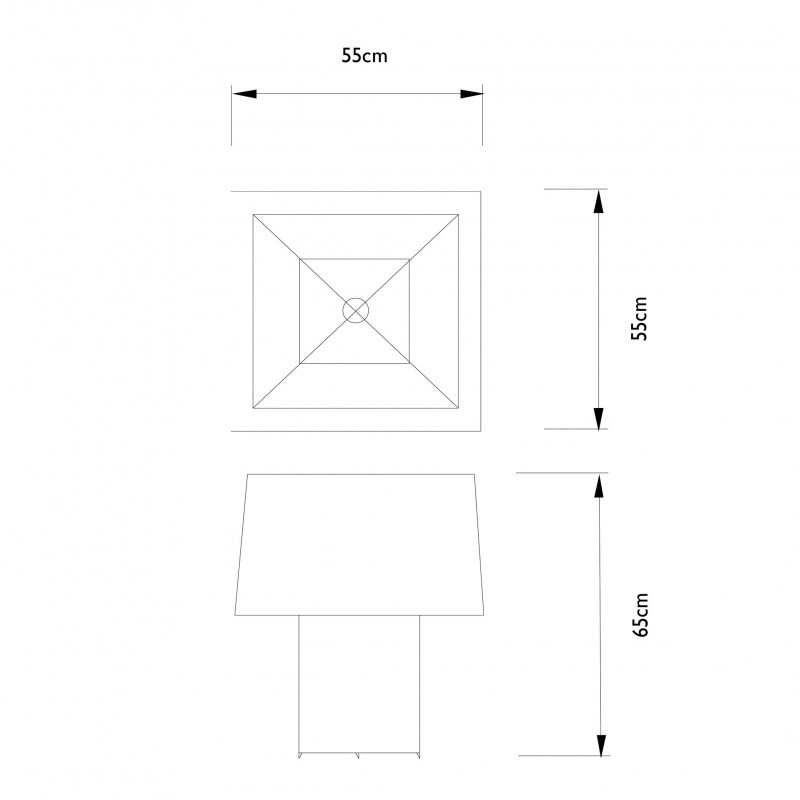 Moooi   Double Square Light Table Lamp   Line Drawing