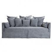 Gervasoni - Ghost 16 Sofa 220x130cm - denim blue/Stoff: Glamour Denim Blu/inkl. 4 Kissen 50x50/2 Armlehnkissen 100x300//4 Kissen 60x60/3 Rückenkissen 80x80