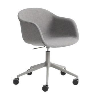 Muuto - Fiber Chair Drehstuhl mit Rollen und Gaslift