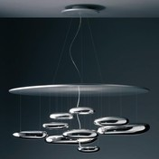 Artemide - Mercury Sospensione LED Pendelleuchte - aluminium/poliert/3000K/2330lm/H 55cm/Ø 110cm
