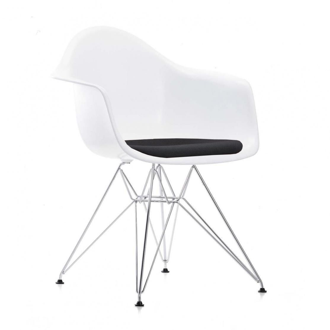 eames plastic armchair dar gepolstert h43cm vitra. Black Bedroom Furniture Sets. Home Design Ideas