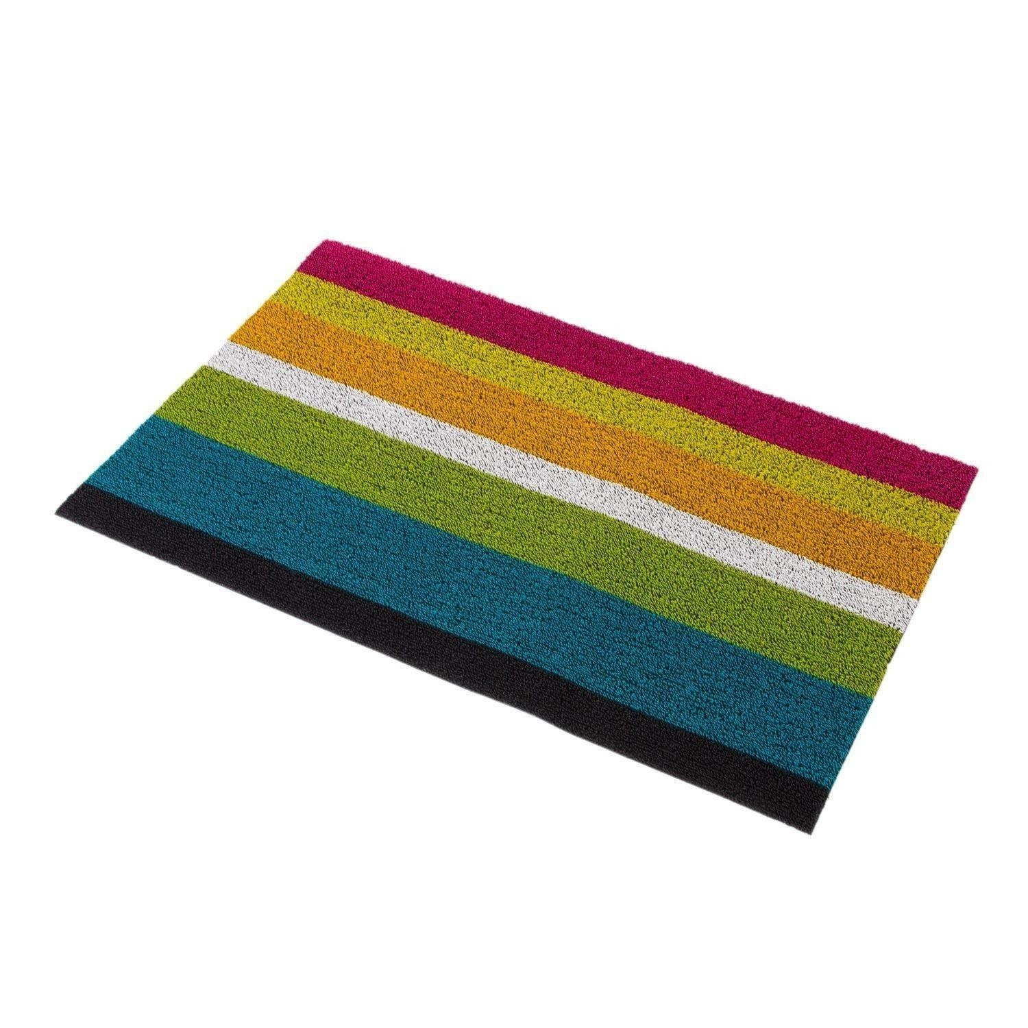 Chilewich   Shag Bold Stripe Door Mat ...