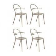 Kartell - Generic C - Set de 4 sillas con reposabrazos