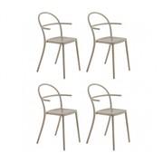 Kartell - Generic C Garden Armchair Set of 4