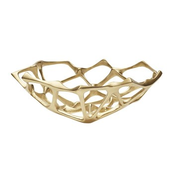Tom Dixon - Bone Bowl Schale S - messing/H 6cm, Ø 22cm