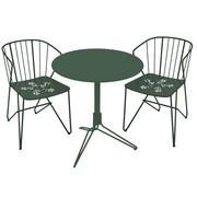 Fermob - 2 Flower Chaises + 1 Flower Table de Jardin