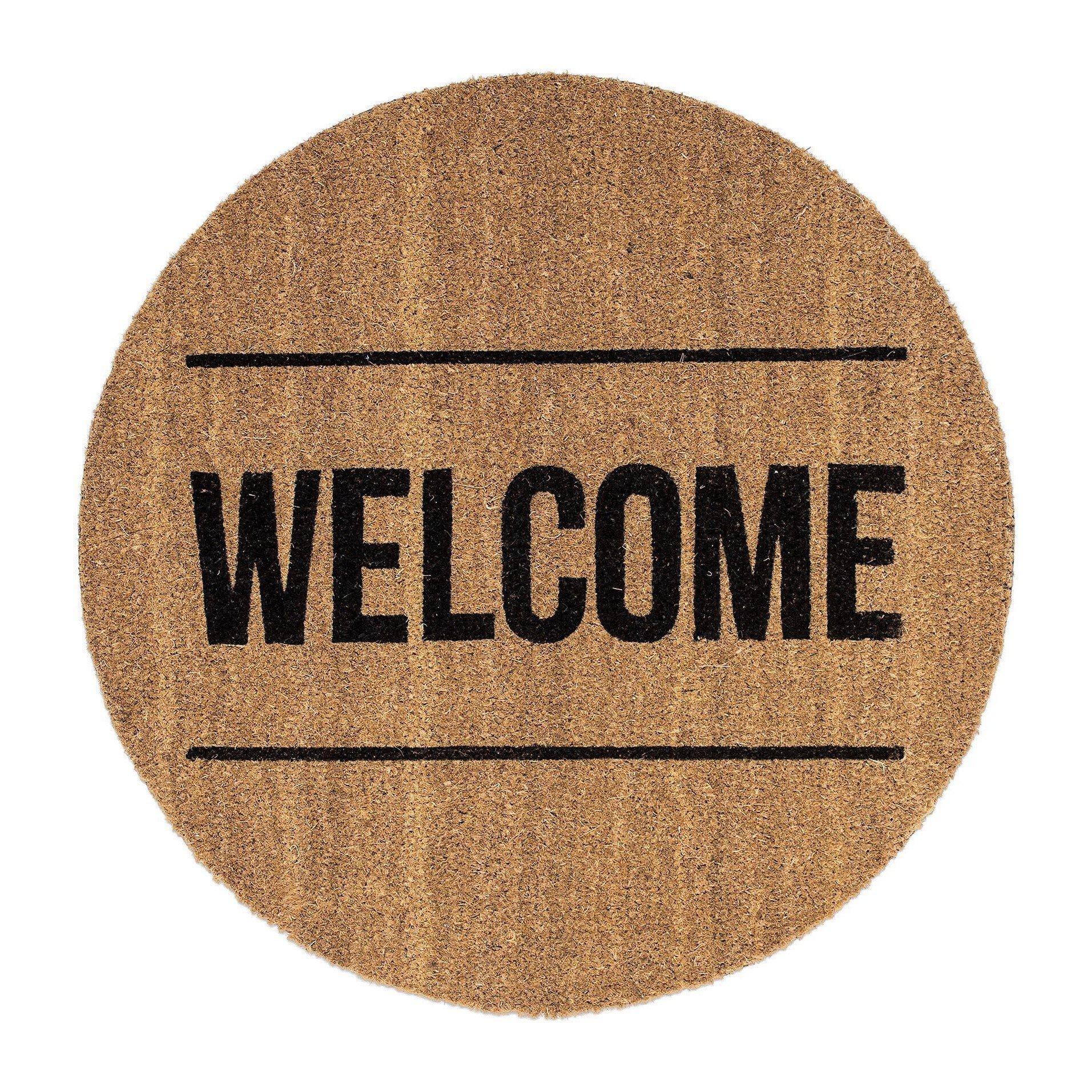 Welcome paillasson bloomingville - Paillasson en anglais ...