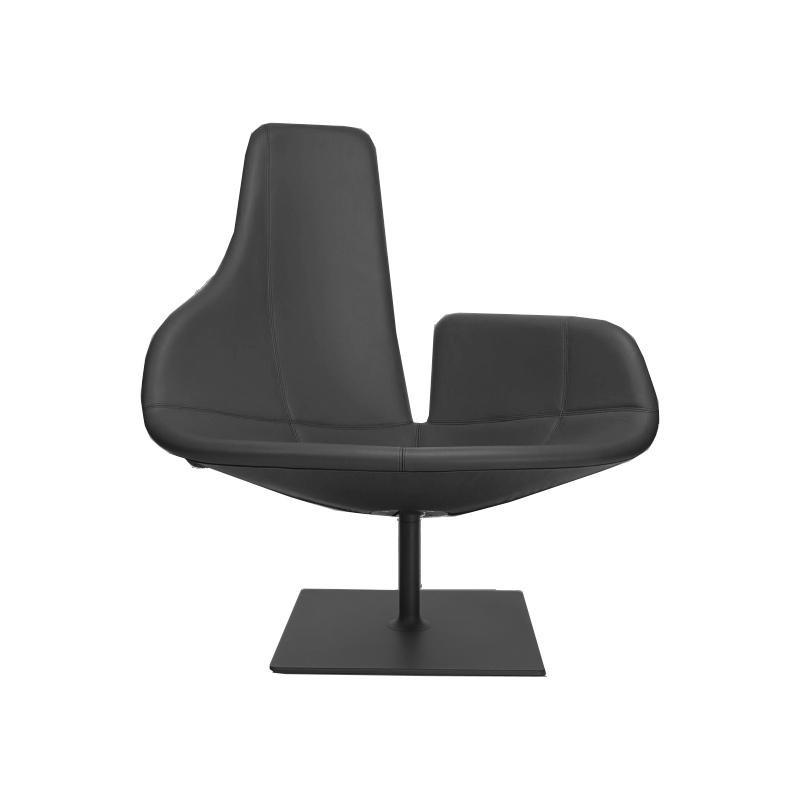 moroso fjord swivel armchair buffalo b256frame black matt