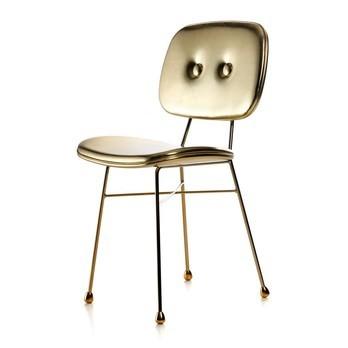 Moooi - Golden Chair Stuhl - gold/glänzend/Synthetik Leder/20.000 Martindale