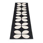 pappelina - Aki Plastic Rug 70x335 cm - black/vanilla