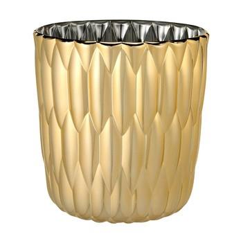 Kartell - Jelly Metallic Vase - gold/Ø23.5cm/H 25cm