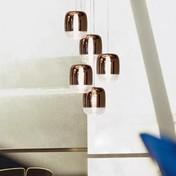 Prandina - Gong Mini 5R Pendelleuchte - kupfer/5 Leuchten/Ø18cm