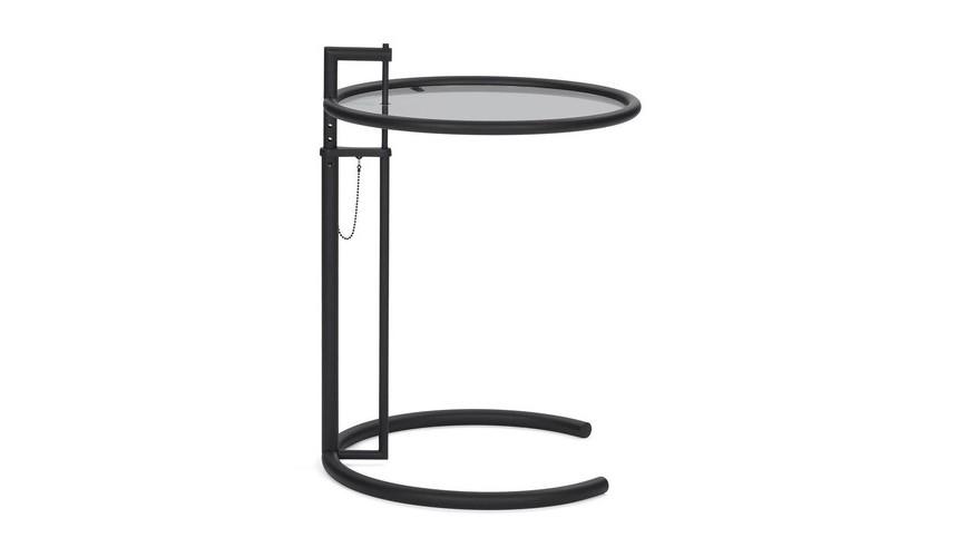 Eileen Gray Occasional Table Adjustable Table E 1027 Beistelltisch schwarz | ClassiCon ...