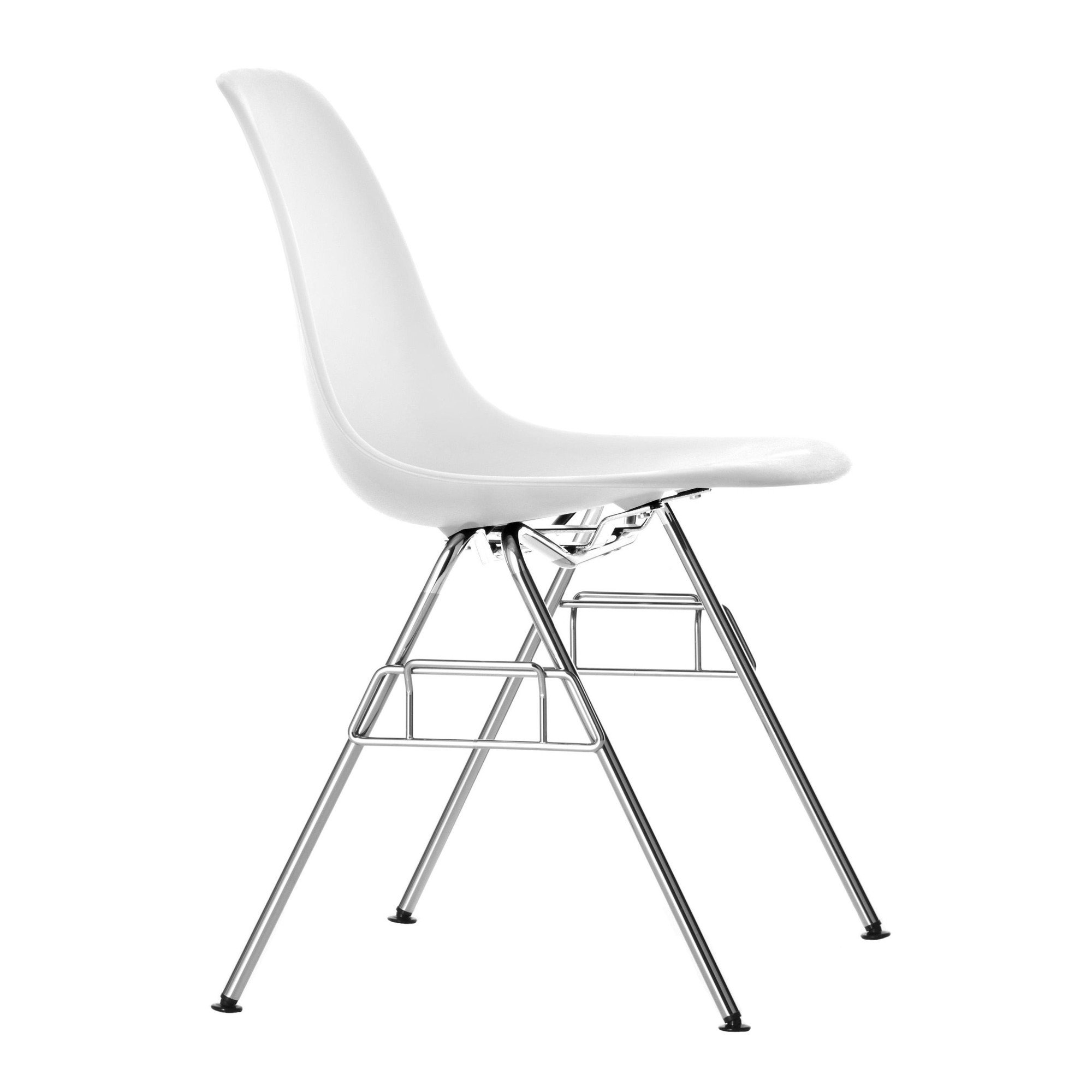 Perfect Vitra   Eames Plastic Side Chair DSS N   White/polypropylene/without Linking