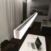 Radius - Absolut L-Series 1500 LED Pendelleuchte - opal/matt/152 x 5.5 x 4.5cm/1296 lm, 3000 k