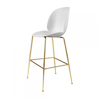Gubi - Beetle Bar Chair Brass Base 118cm