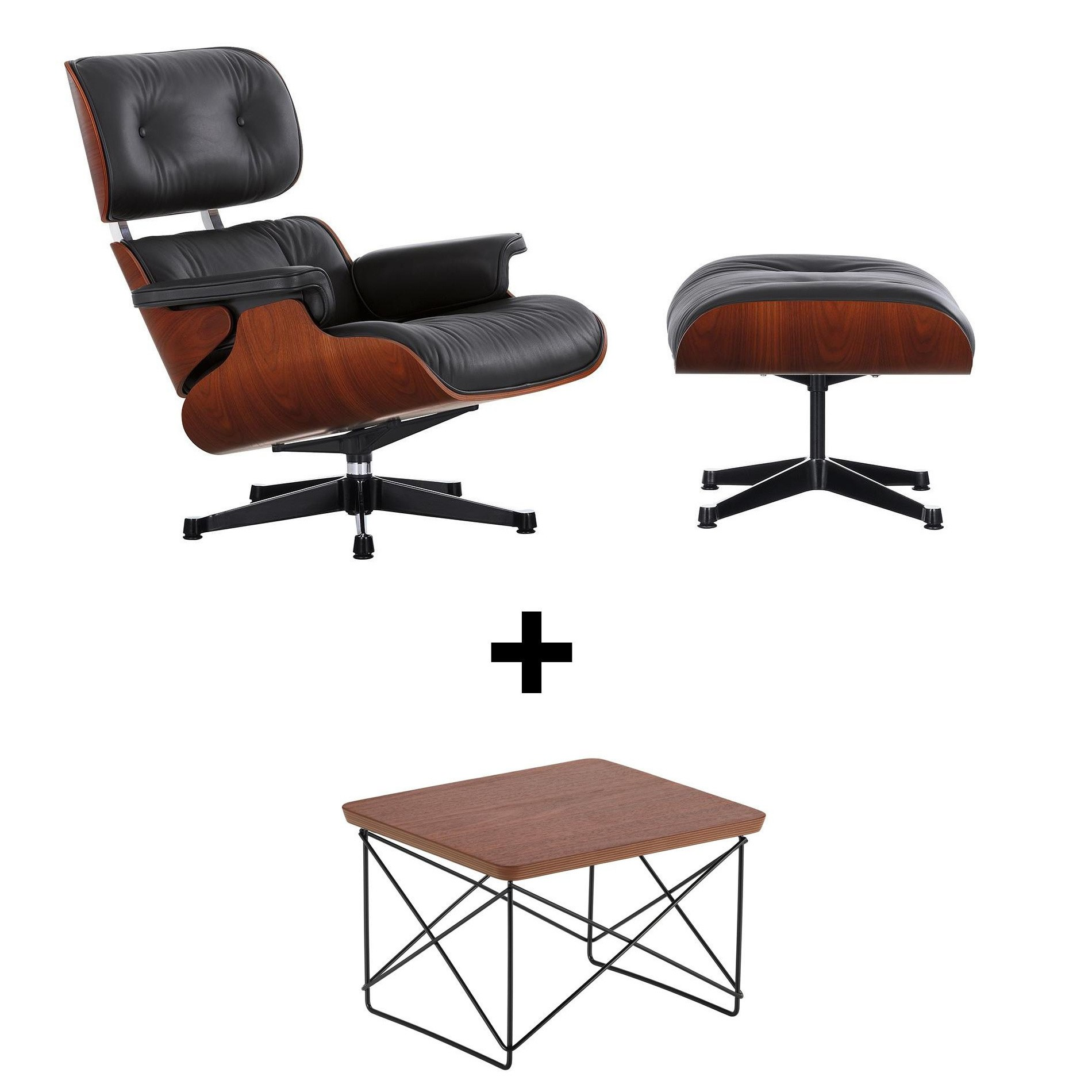 Eames Replica Lounge Stoel.Vitra Eames Lounge Chair Set Ltr For Free Ambientedirect
