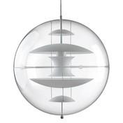 VerPan - VP Globe Glass Pendelleuchte | Ausstellungsstück - weiß//Milchglas/PVC Glas/Ø 50cm/Einzelstück - nur einmal verfügbar!