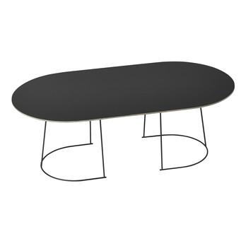 Muuto - Airy Couchtisch L - schwarz/Tischplatte Nanolaminat/LxBxH 120x65x41.2cm/Getsell Stahl massiv pulverbeschichtet
