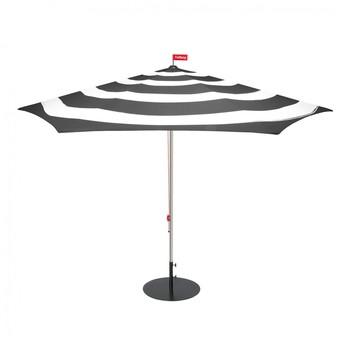 - Stripesol Set Sonnenschirm + Ständer - anthrazit/weiß/Ø350cm / H 265cm/Schirmständer anthrazit/Ø70cm/25kg