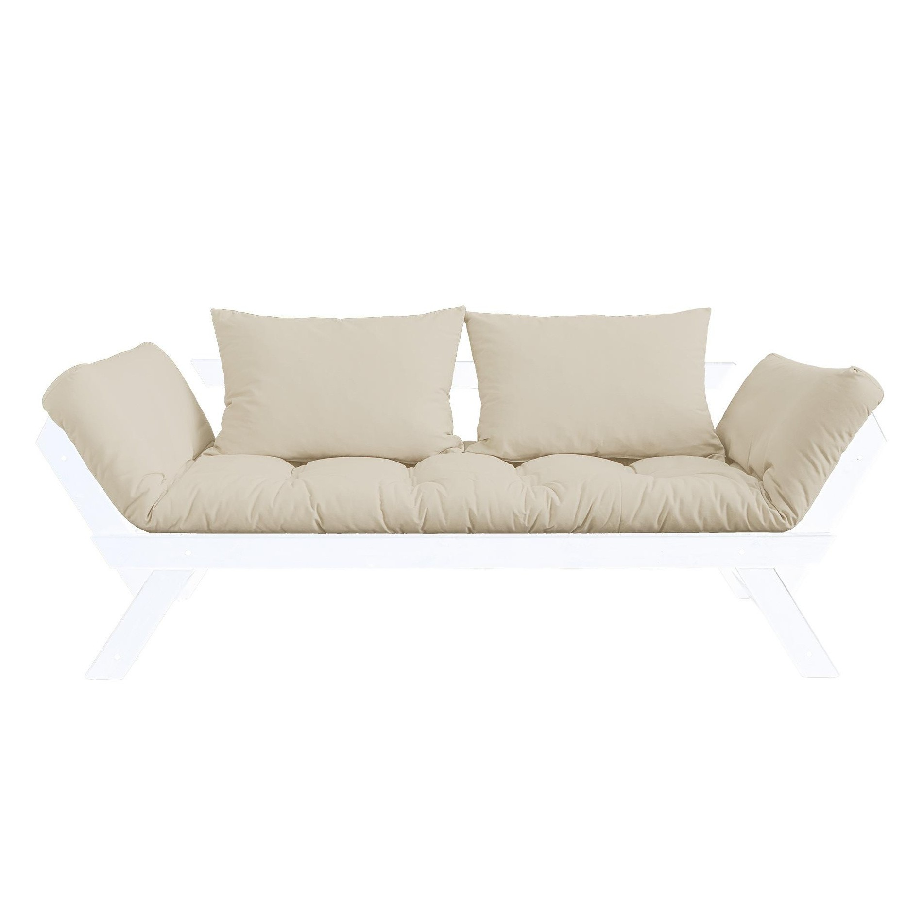bebop sofa bed white laquered pine base ambientedirect rh ambientedirect com