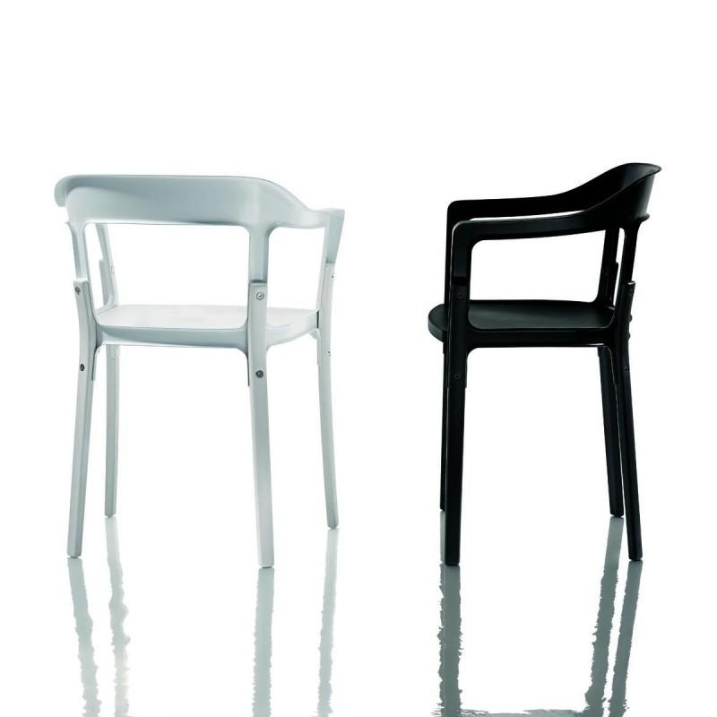 Steelwood chair silla con reposabrazos magis - Sillas con reposabrazos ...