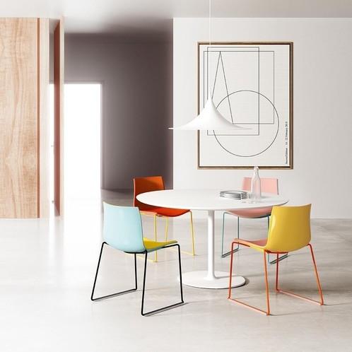 Arper - Catifa 46 0278 Stuhl einfarbig Kufe Chrom
