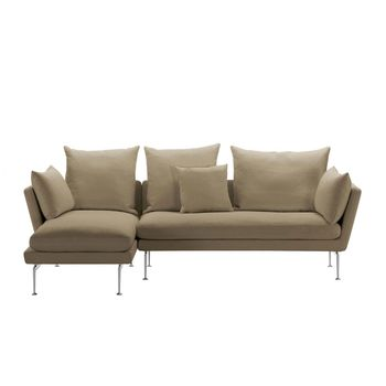 Suita citterio sofa with chaise longue vitra for Dimension chaise longue