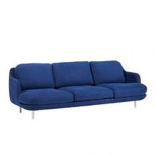 Fritz Hansen - Lune™ JH300 3-Sitzer Sofa Füße Aluminium