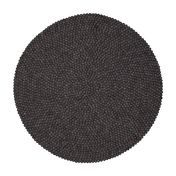 myfelt - Hugo Felt Rug Ø120cm - dark grey/pure new wool