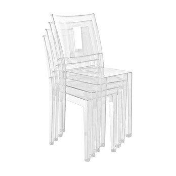 Kartell - La Marie Stuhl 4er Set - glasklar/transparent/4 Stück