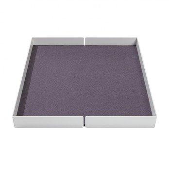 müller möbelwerkstätten - Flai Add-On-Element No. 6 Ablage für Flai Kommode - weiß RAL 9016/mit Filzeinlage anthrazit/offen/LxBxH 38x36x4cm