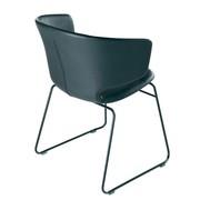 Alias - Chaise avec accoudoirs noir 504 Taormina
