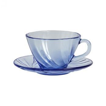 HAY - HAY French Kaffeetasse mit Untertasse 6er Set - blau/Kaffeetasse HxØ 6x9.5cm/Untertasse HxØ 2x13.5cm