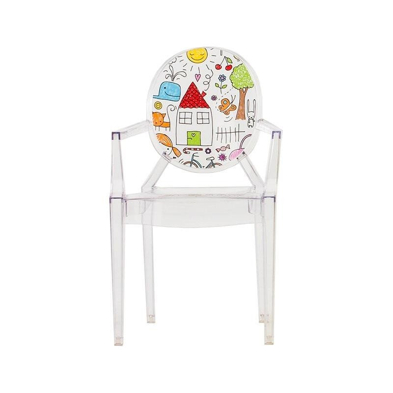Kartell Lou Lou Ghost Children\'s Chair with Motive | AmbienteDirect