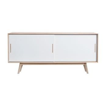 Andersen Furniture - Andersen Furniture S4 Sideboard Sockel Holz - weiß/eiche/Eiche geseift/B 186 x T 45 x H 82 cm/Sockel Eiche geseift